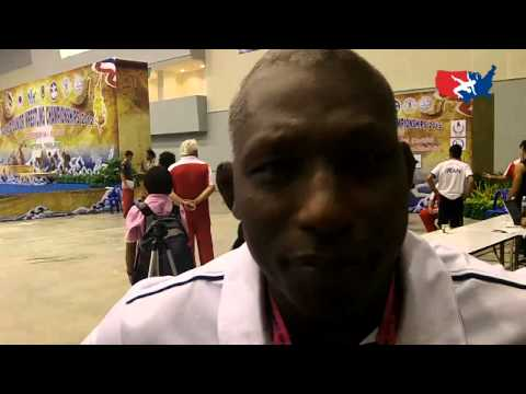 Ike Anderson on Day 1 of Greco at Junior Worlds