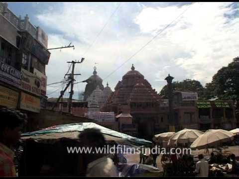 Puri Shri Jagannath Temple from a lane nearby, Orissa