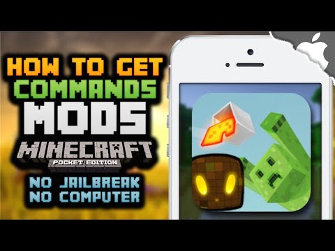 MCPE: How To Get Commands / Mods for Minecraft Pocket Edition! (NO COMPUTER) (NO JAILBREAK)