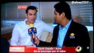 David Zepeda habla sobre vídeo intimo NOTA de Edén Dorantes en Pasillo TV