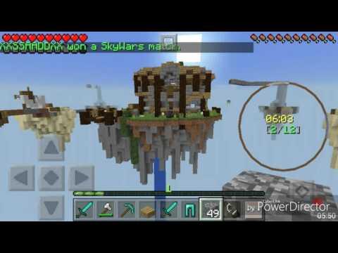 Minecraft PE - Малко Skywars