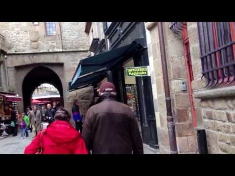 Mont St-Michel walk through the tourist trap street