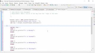 How to use Java SWITCH CASE Statement