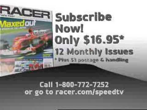 Auto Racing Magazine Subscription on Racer  Magazine   American Sports Magazines  Auto Racing Magazines