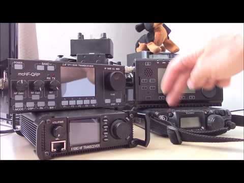 QRP rig comparison, FT817 / X108G / X5105 / mcHF RS-918, Ham radio review