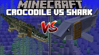 Minecraft CROCODILE HOUSE VS SHARK HOUSE MOD / FIND OUT WHICH AQUATIC HOUSE IS BEST !! Minecraft