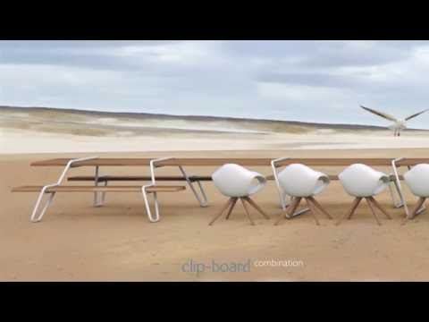 Clip board | modular table, bench and picnic system