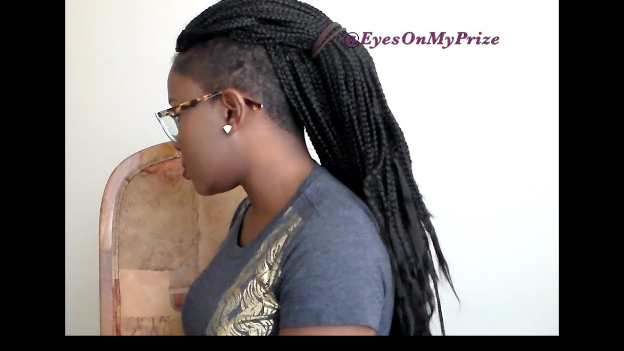 Crochet Braids On Tapered Cut : Update + Box Braids on my Tapered/Frohawk haircut!!! EyesOnMyPrize ...