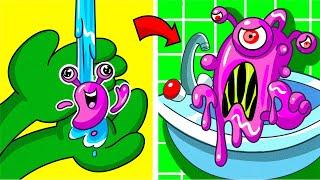 Hatchimals VS Play Doh - Cartoons