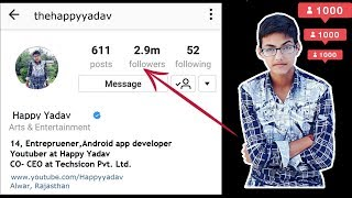 Increase Unlimited real instagram followers by app in 2017. How to gain instagram followers