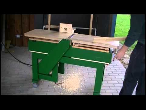Homemade Jointer First Test Eigenbau Abrichte Hobelmaschine