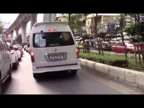 Ride through busy Sukhumvit road