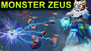 MONSTER ZEUS PATCH 7.11 DOTA 2 NEW META GAMEPLAY #63 (CARRY ZEUS)