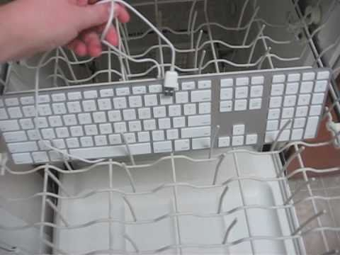how to clean your apple aluminum keyboard in the dishwasher youtube. Black Bedroom Furniture Sets. Home Design Ideas