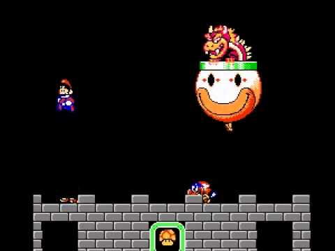 Super Mario World (Incomplete Version) - Super Mario World - NES - Bowser Battle - User video