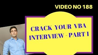 Learn Excel - Video 188 - VBA Interview Questions - Part1