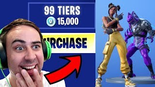 I Bought ALL 100 TIERS !! ... Fortnite SEASON 8 BATTLE PASS UNLOCKED!