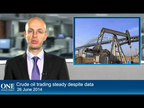 Crude oil trading steady despite data