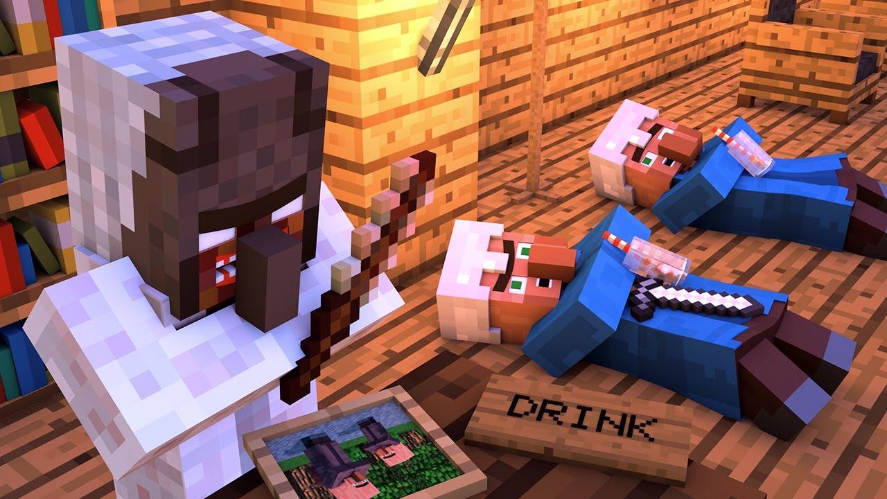 Granny vs Villager Life 2 - Granny Horror Game Minecraft Animation