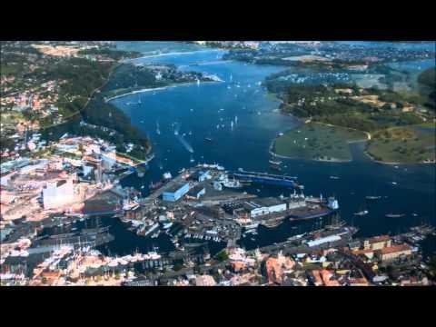 Svendborg havn set fra oven