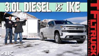 2020 Chevy Silverado Diesel vs World's Toughest Towing Test - Can It Get The Best Ike Score Ever?