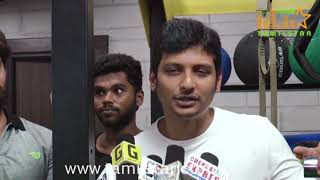 Jeeva Inaugurates Muscle Garage GYM