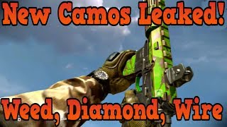 """Call of Duty Ghosts"" Weed, Gold Diamond, Barbed Wire DLC Camos LEAKED!"