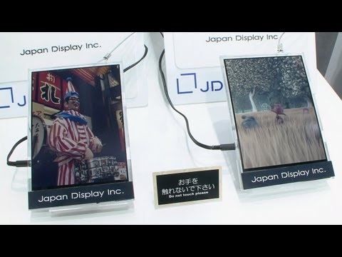 Paper-like low-power color LCD plays video - Japan Display (JDI) #DigInfo