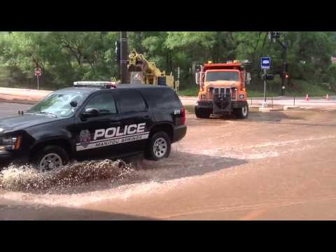 Manitou Springs Flood: Hwy 24 Exit Ramp