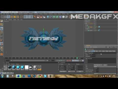 How to edit text in Cinema 4D Templates (Intros) – MedakGFX