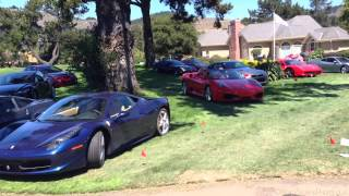 """The Quail - A Motorsports Gathering"" 2013 visitor lot - Veyron Pur Blanc, F50, Enzo, Carrera GT"