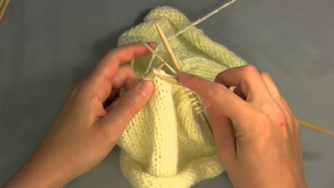 Youtube Knitting In The Round Double Pointed Needles : Switching to double pointed needles from circular