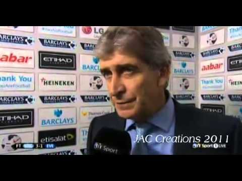 Manuel Pellegrini Post Match Interview Manchester City 3-1 Everton 5/10/13