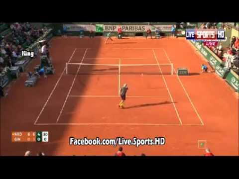 Rafael Nadal vs Robby Ginepri Amazing Point