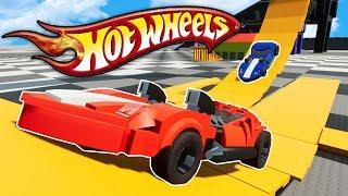 LEGO HOT WHEELS STUNT RACE & CRASHES! - Brick Rigs Challenge Gameplay - Lego City Race