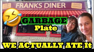 We actually ate a GARBAGE plate at Frank's Diner in Kenosha, WI with a side of downtown Racine.