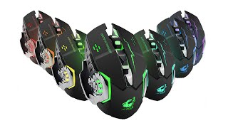 Wireless Gaming Mouse LED RGB Backlight USB Rechargeable FREE WOLF X8
