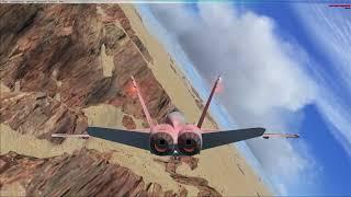 Microsoft Flight Simulator X F18 Grand Canyon