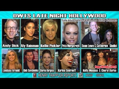 DWTS Stars talk about rumor Peta Murgatroyd & The Bachelor having an affair,
