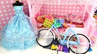 💙BARBIE PRINCESS HOUSE RIDE ON POCKET BIKE💙ELSA ANNA TODDLERS FROZEN💙RAPUNZEL💙BUNK BED💙DOLLS💙DRESS