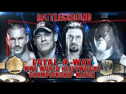 Fatal 4-way Wwe World Heavyweight Championship Match At Wwe Battleground video