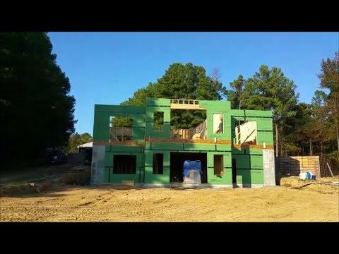Home build Update- Oct 7, 2016-All exterior walls up & shop update