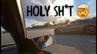 Corvette encounters 1489WHP Supra