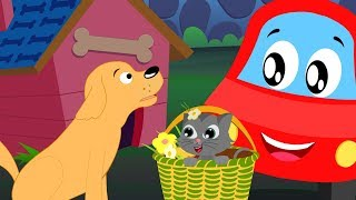 For He's A Jolly Good Fellow | Little Red Car Cartoons | Nursery Rhymes For Children