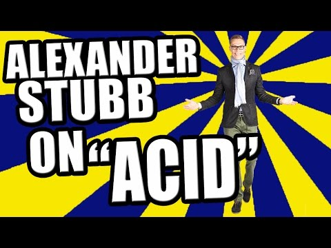 Alexander Stubb on acid with effects