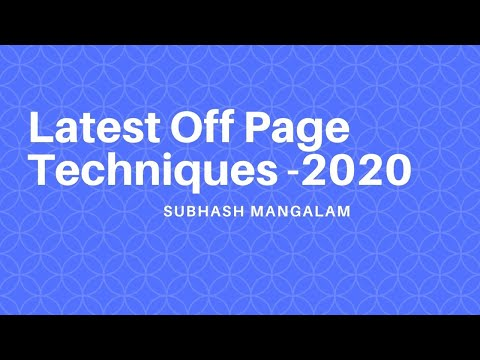 How to Get Backlinks Through Blog Commenting & Web 2.0 sites 2020 | Latest Off Page techniques 2020