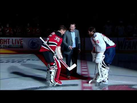 Gotta See It: Brodeur drops puck in ceremonial goalie face off
