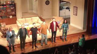 Armie Hammer, Josh Charles, & cast take their bows at the first Straight White Men Broadway preview