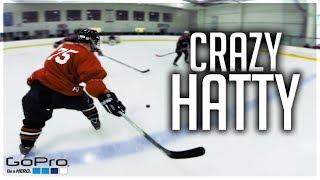 GoPro Hockey   CRAZY HAT-TRICK