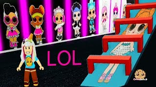 LOL Surprise OBBY ! Random Roblox Worlds Cookie Swirl C Game Play